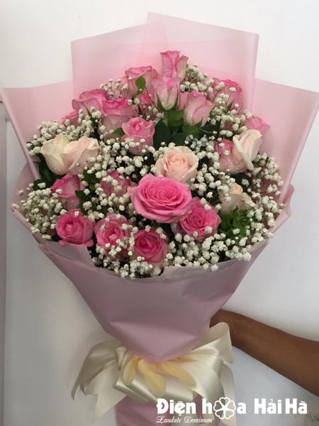Bó hoa mừng sinh nhật mẹ hoa hồng sen baby - Dịch vụ điện ...