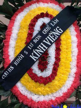Đặt vòng hoa tang lễ tại Hà Nội 250k