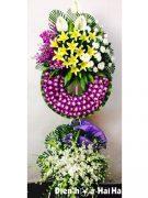 Đặt vòng hoa tang lễ lan tím hồng trắng ở HCM