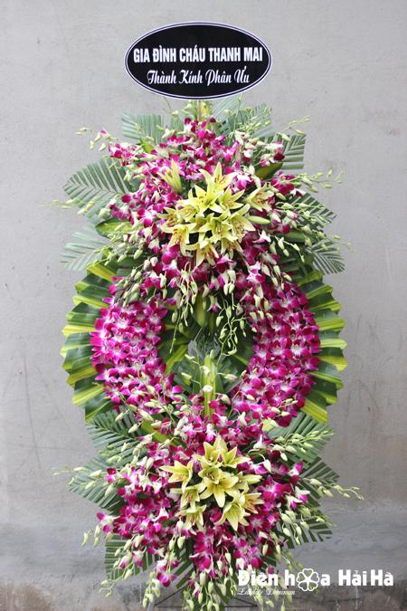 Mẫu 26: Đặt Vòng hoa màu tím viếng đám tang tại nhà tang lễ quận 5 thành phố Hồ Chí Minh, Liên hệ đặt 0919253139 (hoặc zalo).