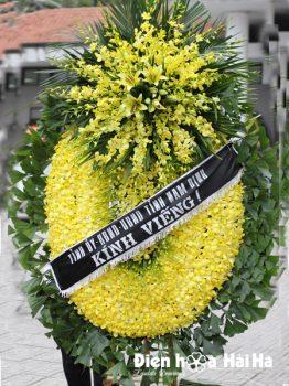Đặt vòng hoa phúng điếu tại Hà Nội hoa lan vàng