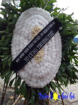 Đặt vòng hoa truyền thống mầu trắng giá rẻ tại Hà Nội