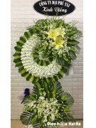Vòng hoa đám tang HCM vòng hoa màu trắng