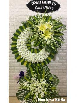 Vòng hoa đám tang lan trắng