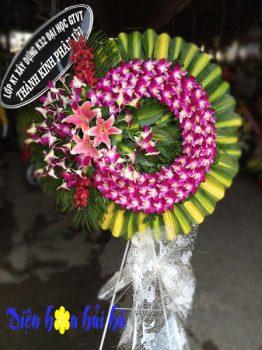Mẫu vòng hoa viếng tang lễ một tầng ở Hà Nội