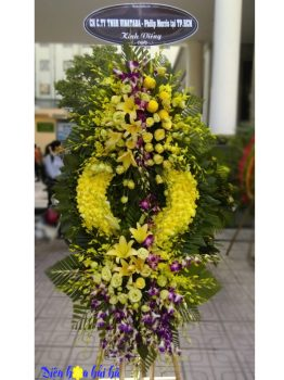 Đặt vòng hoa đám tang sang trọng tại Hà Nội