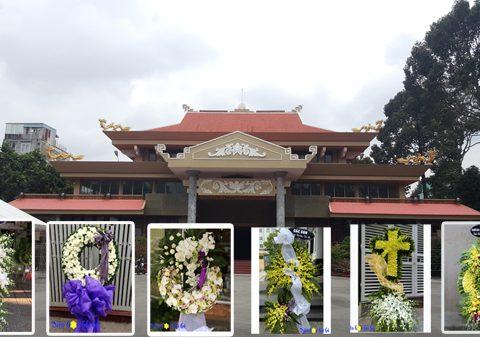Đặt vòng hoa đám tang nhà tang lễ Bệnh viện quân y 175 – Bộ Quốc Phòng.
