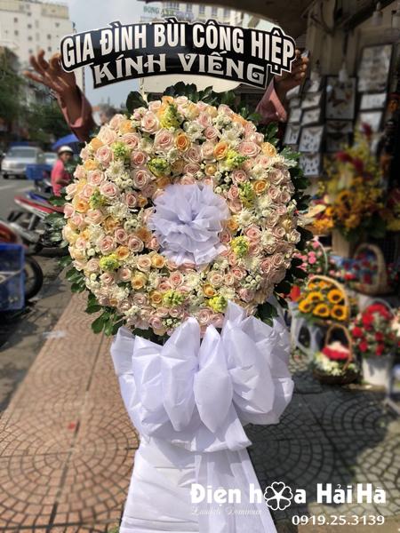 Mẫu 17: Đặt vòng hoa đám tang tại nhà tang lễ bệnh viện 175. Liên hệ đặt 0919253139 (hoặc zalo).