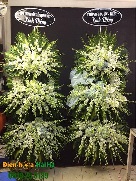 Mẫu 9: Đặt Vòng hoa viếng đám tang tại nhà tang lễ quận 5 thành phố Hồ Chí Minh, vòng hoa màu trắng. Liên hệ đặt 0919253139 (hoặc zalo).