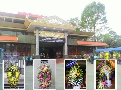 Đặt vòng hoa đám tang tại nhà tang lễ Thành Phố Lễ Quý Đôn Q3 TPHCM