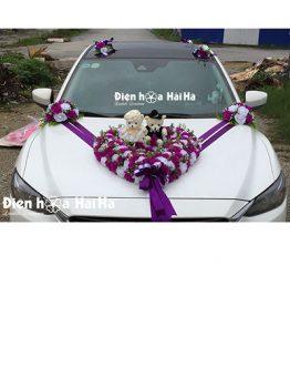 Bán hoa giả trang trí xe cưới giá rẻ đi cao tốc (1)