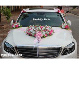 Bán hoa giả trang trí xe cưới trái tim rỗng nhẹ nhàng mã HG-041 đi cao tốc (1)
