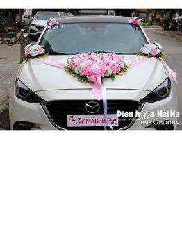 Bán hoa giả trang trí xe hoa bông to vải mềm độc đáo mã XHG-089 (1)