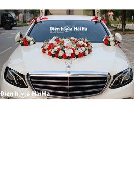 Hoa lụa kết xe cưới trái tim hồ điệp sang trọng bậc nhất mã XHG-121 (1)