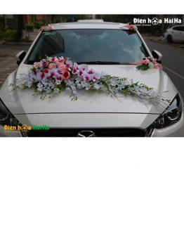 Hoa lụa trang trí xe cưới hồ điệp nhuỵ tím độc lạ mã XHG-102 sang trọng (1)