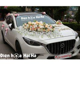 Hoa lụa trang trí xe cưới hồng mẫu đơn thiết kế mới mã XHG-123 (1)
