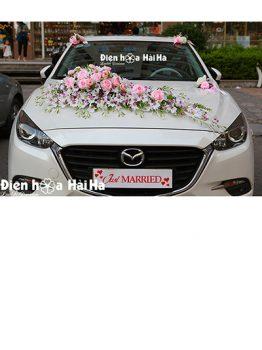 Hoa lụa trang trí xe cưới lan nhuỵ tím hồng phấn mã XHG-108 giá rẻ (1)