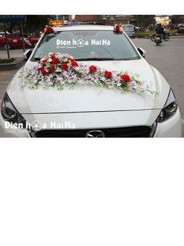 Hoa xe cưới bằng lụa lan nhuỵ tím phiên bản đặc biệt mã XHG-128 giá rẻ (1)