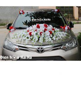 Mẫu xe hoa cưới bằng lụa cụm hoa lan giá rẻ mã XHG-130 sang trọng (1)