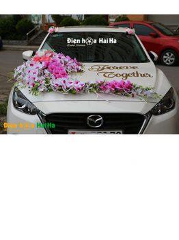Mẫu xe hoa cưới bằng lụa hồ điệp tím rực rỡ mã XHG-118 sang trọng (1)