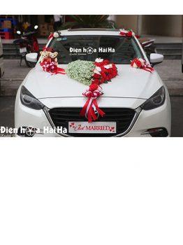 Mẫu xe hoa cưới bằng lụa trái tim thiên thần baby mã XHG-124 sang trọng (1)