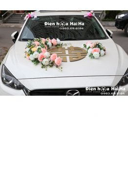 Mua hoa giả trang trí xe hoa mẫu song hỷ giá rẻ mã XHG-113 sang trọng (1)