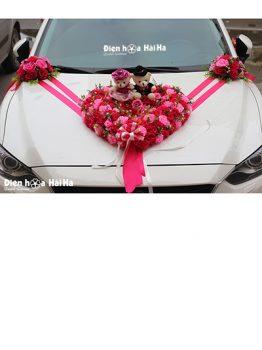 Mua hoa giả trang trí xe hoa trái tim hiện đại mã XHG-043 giá rẻ đi cao tốc (1)