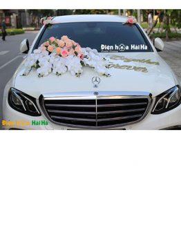 Trang trí xe cưới bằng hoa lụa hồ điệp thanh lịch mã XHG-098 sang trọng (1)