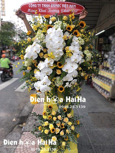 Bán lẵng hoa tặng khai trương cửa hàng - Phát Đạt Hưng Thịnh