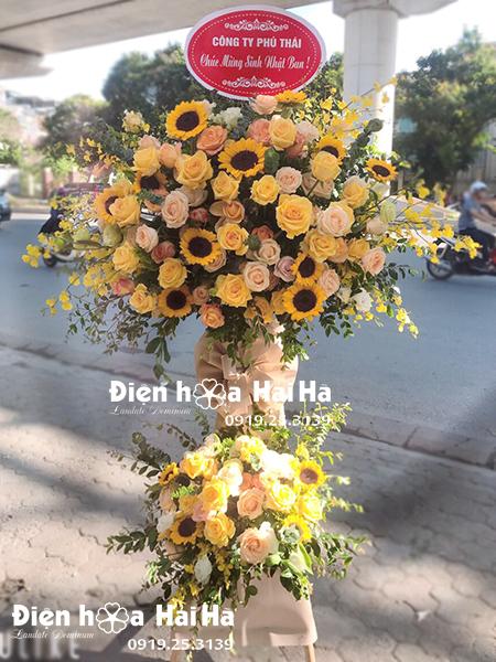 Hoa tặng khai trương cửa hàng vàng hoàng kim - thịnh vượng giá rẻ