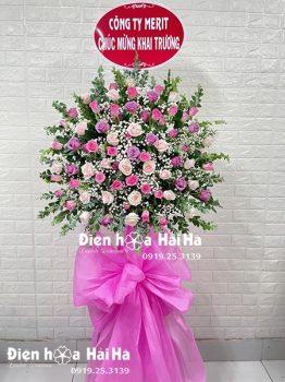 Kệ hoa khai trương giá rẻ hồng các màu 1 tầng