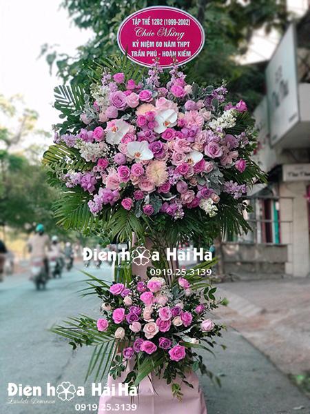 Lẵng hoa chúc mừng khai trương sang trọng - phát lộc kệ hoa chúc mừng