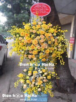 Lẵng hoa tươi chúc mừng khai trương công ty - Phát Tài