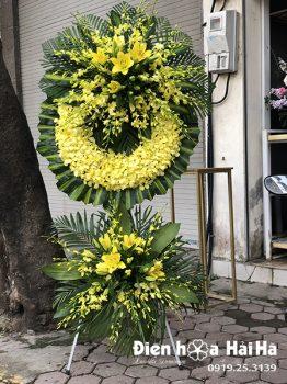 Vòng hoa tang lễ 2 tầng
