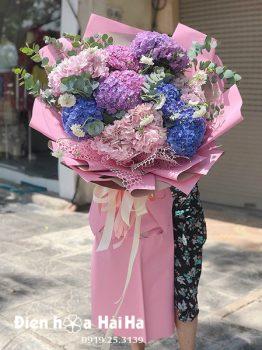 Bó hoa cẩm tú cầu nhập khẩu