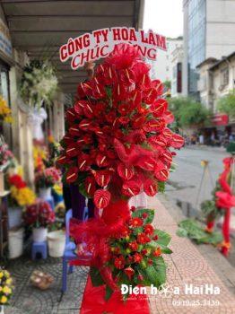 Lẵng hoa mừng khai trương hồng môn đỏ - Tương lai huy hoàng