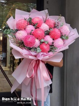 Bó hoa cúc mẫu đơn đẹp