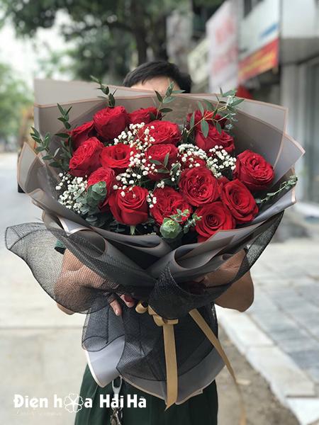 Bó hoa chúc mừng hồng đỏ Tinh Tế