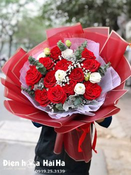 Bó hoa hồng đỏ đẹp - Scarlet