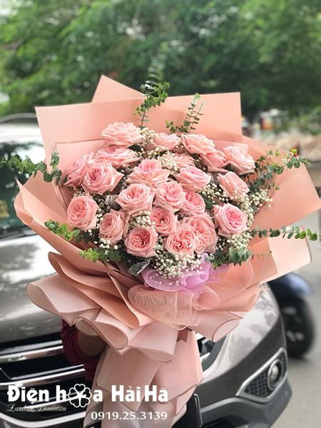 Bó hoa chúc mừng hồng Ohara Thơm Bền