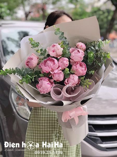 Bó hoa mẫu đơn đẹp