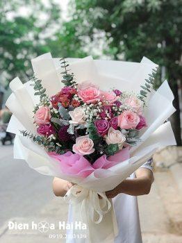 Bó hoa chúc mừng Dịu Dàng