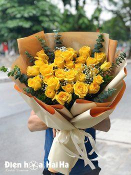 Bó hoa sinh nhật hồng vàng