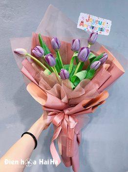 Bó hoa sinh nhật tulip tím
