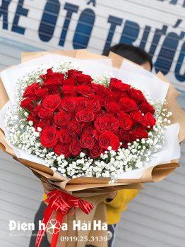 Bó hoa tặng sinh nhật hồng đỏ