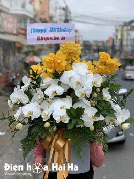 Giỏ hoa sinh nhật trang trọng