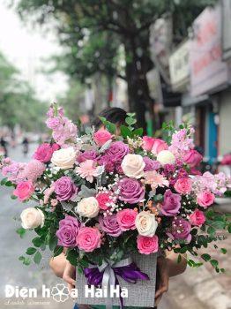 Giỏ hoa tặng sinh nhật