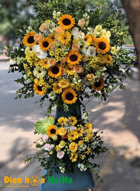 Hoa mừng khai trương tông vàng không ngừng vươn xa