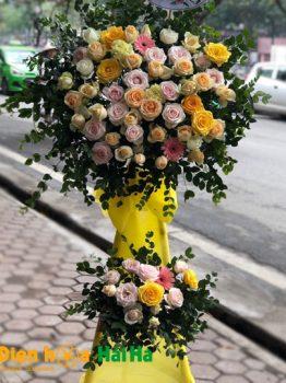 Hoa tặng khai trương 2 tầng giá rẻ tại Hà Nội