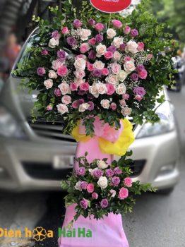 Lẵng hoa tặng khai trương- Nhật tiến vinh hoa